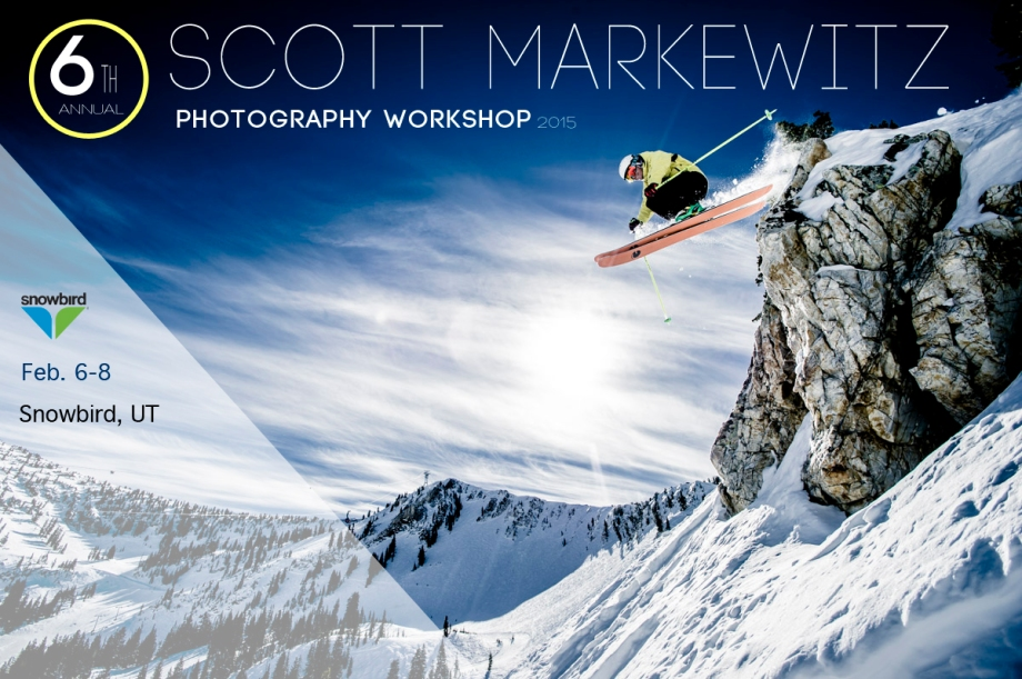 Man skiing downhill in Utah